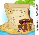 treasure map and treasure chest ... | Shutterstock .eps vector #246282025