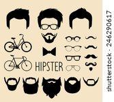big vector set of dress up... | Shutterstock .eps vector #246290617