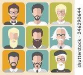 vector set of different man... | Shutterstock .eps vector #246290644