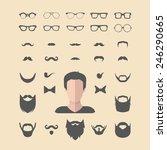 big vector set of dress up... | Shutterstock .eps vector #246290665
