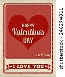 happy valentine's day vintage... | Shutterstock .eps vector #246294811