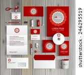 red classic corporate identity... | Shutterstock .eps vector #246295519
