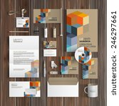 geometric corporate identity... | Shutterstock .eps vector #246297661