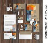 geometric corporate identity... | Shutterstock .eps vector #246297661