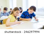 education  elementary school ... | Shutterstock . vector #246297994