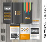black brochure template design... | Shutterstock .eps vector #246300271