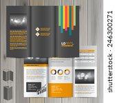 black brochure template design... | Shutterstock .eps vector #246300271