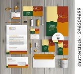 color corporate identity... | Shutterstock .eps vector #246304699