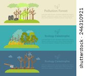 nature issue deforestation ... | Shutterstock .eps vector #246310921