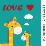 giraffe t shirt graphics cute... | Shutterstock .eps vector #246313195