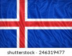 Iceland flag pattern on the...