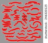vintage ribbon banners  hand... | Shutterstock .eps vector #246320125