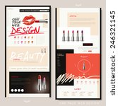 fashion one page website design ...