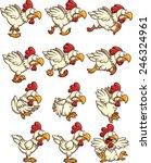 chicken sprites with running... | Shutterstock .eps vector #246324961