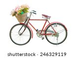 Red Classic Bike With Flower I...