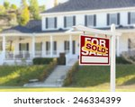 sold home for sale real estate... | Shutterstock . vector #246334399