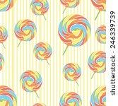 seamless texture sweetmeats | Shutterstock . vector #246339739