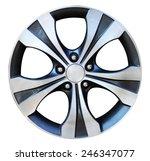 car wheel  car alloy rim on... | Shutterstock . vector #246347077