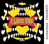 vector i love you background | Shutterstock .eps vector #246348391