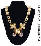 isolated vector golden necklace ... | Shutterstock .eps vector #246363454