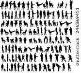 vector silhouettes of people in ... | Shutterstock .eps vector #246369451