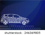 concept  symbolizing the car as ... | Shutterstock .eps vector #246369805