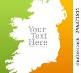 contour map of ireland. irish... | Shutterstock .eps vector #246371815