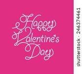 vector happy valentine's day... | Shutterstock .eps vector #246374461