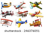 a group of planes on a white... | Shutterstock .eps vector #246376051