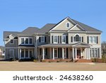 New Two-Story Luxury House - stock photo