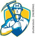 illustration of a coal miner... | Shutterstock .eps vector #246383461