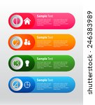 colorful modern text box... | Shutterstock .eps vector #246383989