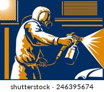 vector illustration of a spray... | Shutterstock .eps vector #246395674