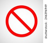 stop icon great for any use.... | Shutterstock .eps vector #246396949