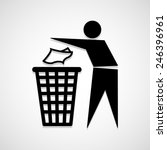 trash bin icon great for any... | Shutterstock .eps vector #246396961