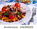 salad with red beans  sweet... | Shutterstock . vector #246398305