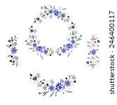 Vintage Set Watercolour Flowers....