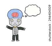 cartoon future robot with... | Shutterstock .eps vector #246404509