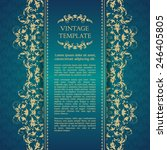 vintage template with pattern... | Shutterstock .eps vector #246405805