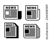 newspaper icons set on white .... | Shutterstock .eps vector #246408589