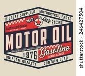 motorcycle oil typography  t... | Shutterstock .eps vector #246427504