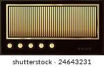 editable vector retro guitar... | Shutterstock .eps vector #24643231
