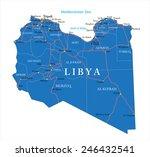 libya map   Shutterstock .eps vector #246432541