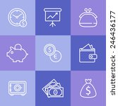 illustrated icons on the theme... | Shutterstock .eps vector #246436177