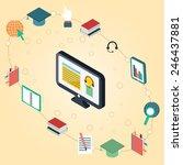 vector illustration on e... | Shutterstock .eps vector #246437881