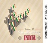 retro style india republic day... | Shutterstock .eps vector #246439201
