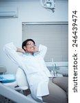 relaxed smiling female dentist...   Shutterstock . vector #246439474