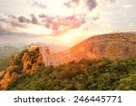 landmark of china great wall... | Shutterstock . vector #246445771