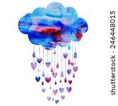 rain of hearts   Shutterstock .eps vector #246448015
