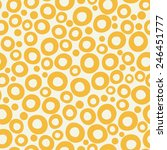 yellow funky bubble background. ... | Shutterstock .eps vector #246451777